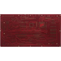 2 layers pcb with red soldermask