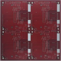 4 layers pcb with red soldermask