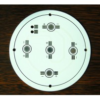 Single-sided aluminum PCB with white solder mask