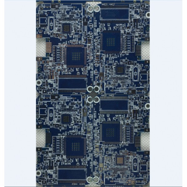 4 layers pcb with blue soldermask