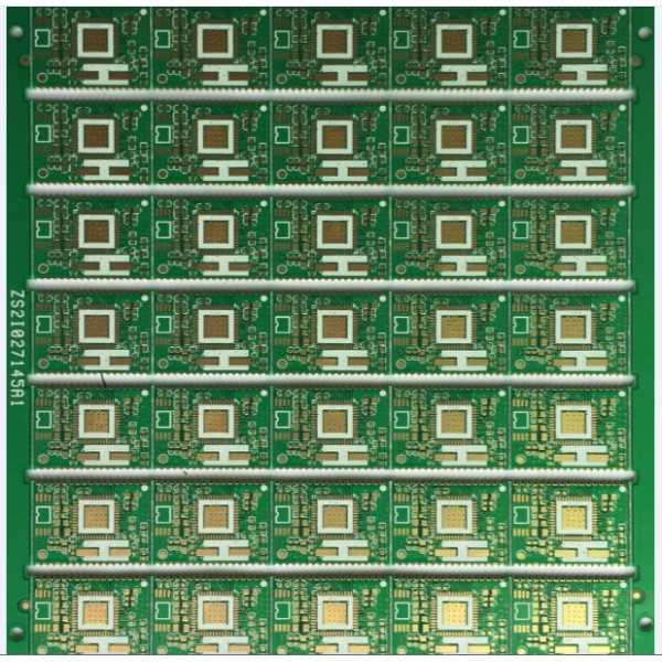4 layers PCB with half holes plated