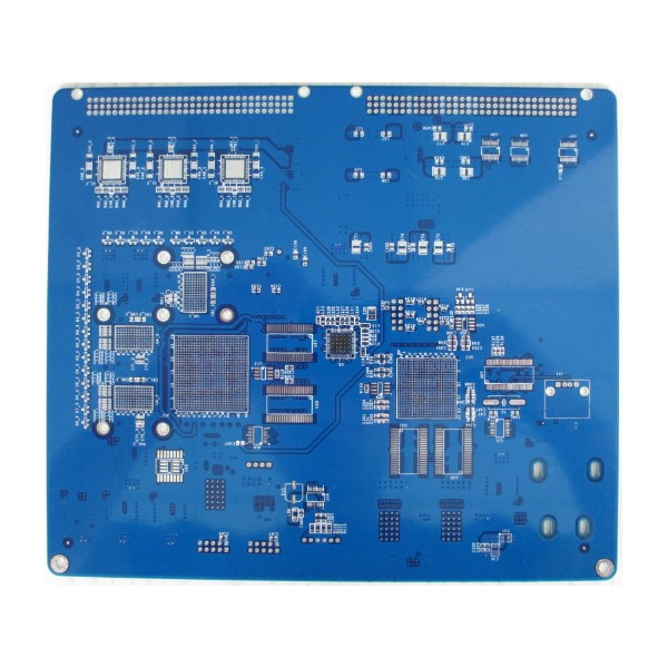 8 layers impedance PCB with blue soldermask